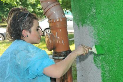 1.II Dzień malowania muralu z Pogromcami Bazgrołów (foto - A Naider)