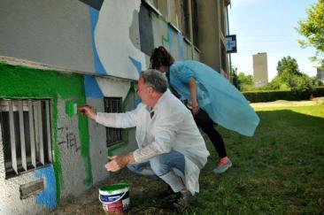 10.II Dzień malowania muralu z Pogromcami Bazgrołów (foto - A Naider)