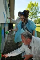 11.II Dzień malowania muralu z Pogromcami Bazgrołów (foto - A Naider)