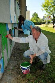 13.II Dzień malowania muralu z Pogromcami Bazgrołów (foto - A Naider)