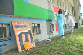 16.II Dzień malowania muralu z Pogromcami Bazgrołów (foto - A Naider)