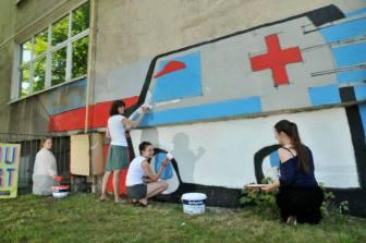19.II Dzień malowania muralu z Pogromcami Bazgrołów (foto - A Naider)