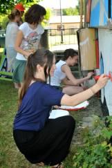 23.II Dzień malowania muralu z Pogromcami Bazgrołów (foto - A Naider)