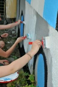 26.II Dzień malowania muralu z Pogromcami Bazgrołów (foto - A Naider)