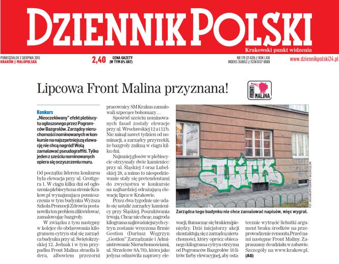 DP Lipcowa Front Malina